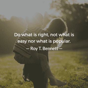 Do what is right, not what is easy nor what is popular Jordan Georgiev 5 — Never Productive