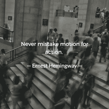 Never mistake motion for action Jordan Georgiev 3 — Never Productive