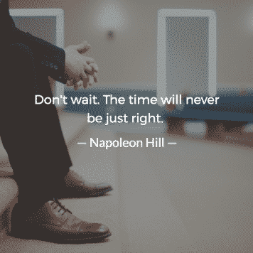Don't wait. The time will never be just right Jordan Georgiev 4 — Never Productive