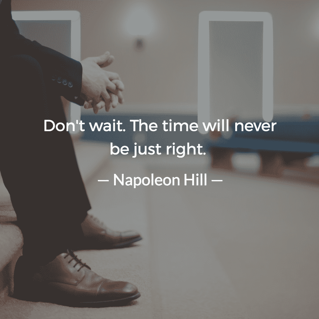 Don't wait. The time will never be just right Jordan Georgiev 2 » Never Productive